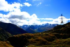 Free Snow Capped Mountains Over Green Valley Stock Images - 16050474