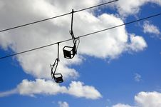 Ski Lift Chairs Stock Photo