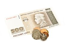 Free Latvian State Five Hundred Lats Banknotes. Royalty Free Stock Image - 16050756