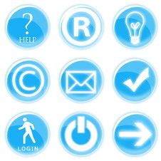 Free Set Of Web Icons Royalty Free Stock Images - 16051969