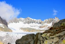 Free Glacier With Snow Capped Mountains Stock Images - 16052324