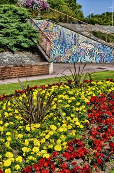 Free Flower Garden In Hardwicke Circus, Carlisle Stock Images - 16052694