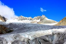 Free Blue Sky Snow Mountains With Glacier Stock Photography - 16052812