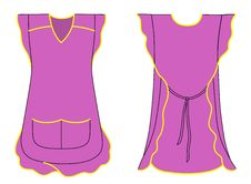 Woman Apron With Frills And Pockets Royalty Free Stock Photo