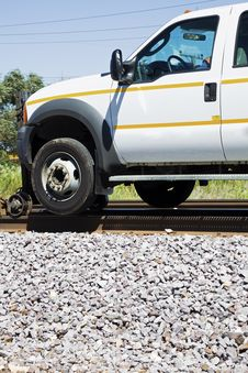 Free Railway Pick Up Truck Royalty Free Stock Images - 16053629