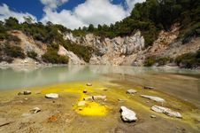 Free Frying Pan Flat, Wai-O-Tapu Thermal Wonderland Stock Photography - 16053742