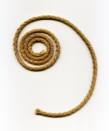 Free Spiral Rope Made From Natural Fibers Royalty Free Stock Images - 16053749