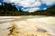 Free Frying Pan Flat, Wai-O-Tapu Thermal Wonderland Stock Photography - 16053752