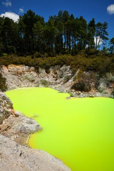 Free Devil S Bath, Wai-O-Tapu Thermal Wonderland Royalty Free Stock Image - 16054076