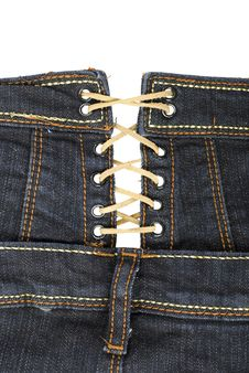 Free Jeans Clothing With Laces | Isolated Stock Photos - 16054133