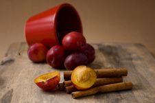 Free Plums And Cinnamon Stock Photos - 16054383