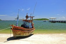 Free Fisherman Boat Royalty Free Stock Image - 16054396