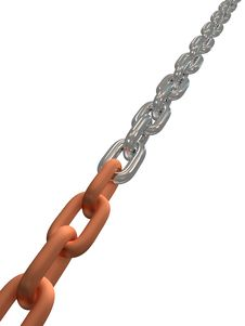 Close Up View Of Links In The Chain Stock Photo