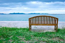 Free Wood Chair At Beach Stock Images - 16054624