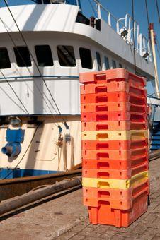 Free Fish Crates Royalty Free Stock Photos - 16054648