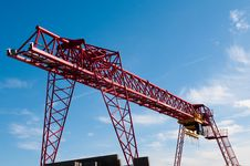 Free Big Red Crane Stock Image - 16054701