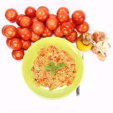 Risotto With Tomatoes Stock Photography