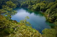 Free Plitvice Lakes From Above Royalty Free Stock Image - 16055246