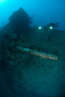 Free Stern Of The SS Thistlegorm Royalty Free Stock Photography - 16056187