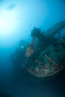 Stern Of The SS Thistlegorm Stock Images