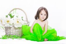 Free Girl With Basket Royalty Free Stock Photography - 16056577