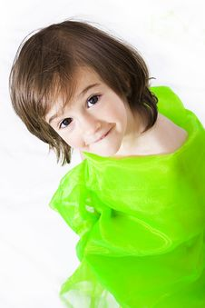 Free Girl In Green Stock Photography - 16056592