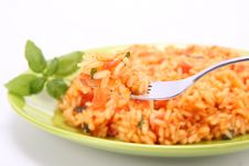 Risotto With Tomatoes Stock Photos