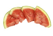 Free Watermelon Slices Four Triangles Stock Photography - 16057352