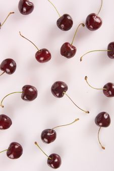 Free Ripe Cherries Isolated Stock Photography - 16059482