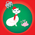 Free Christmas Cat Royalty Free Stock Image - 16069616