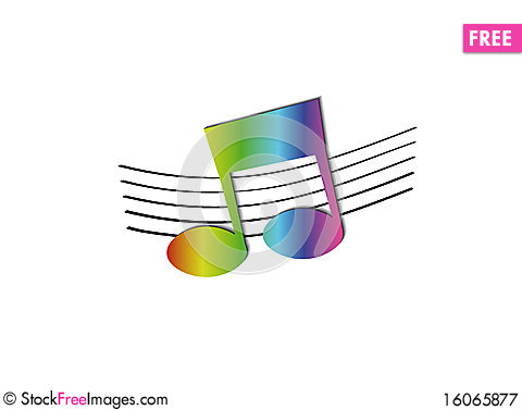 Free Rainbow Note Royalty Free Stock Photography - 16065877