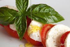 Free Tomato Mozzarella Salad - Caprese Royalty Free Stock Images - 16060059