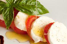 Free Tomato Mozzarella Salad - Caprese Royalty Free Stock Photos - 16060078
