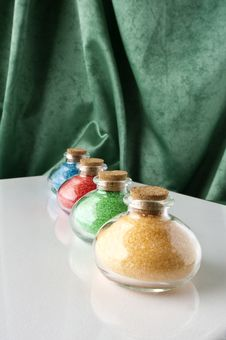 Free Colored Bath Salts Stock Photos - 16060743