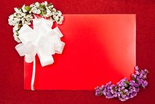 Free Paper Blank On Red Royalty Free Stock Photo - 16060835