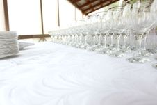 Free Lots Of Wine Glasses Royalty Free Stock Image - 16061206