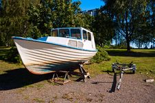 Free Old Rusty Boat Stock Image - 16061701