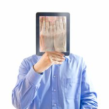 Free He Buried His Face In His Hands.Digital Generation Royalty Free Stock Images - 16062049
