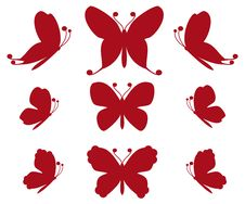 Free Red Butterflies Stock Photography - 16062102