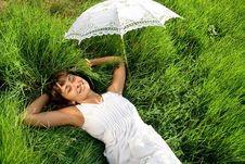 Free Resting On The Grass Royalty Free Stock Photos - 16062418