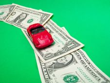 Free Toy Roadster On Dollar Way Stock Image - 16062481