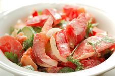 Free Fresh Salad With Tomato Stock Image - 16062771