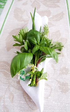 Free Bouquet Of Fresh Green Herbs Stock Photos - 16063773