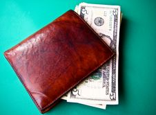 Free Money On A Wallet Stock Photos - 16064843