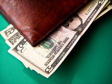 Free Money On A Wallet Royalty Free Stock Photo - 16064875