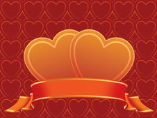 Free Hearts And Banner Stock Image - 16065971