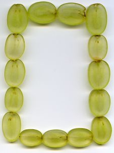 Frame Of The Sliced Grape Royalty Free Stock Image
