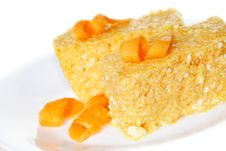 Pumpkin And  Cheese Casserole Dessert Royalty Free Stock Photography
