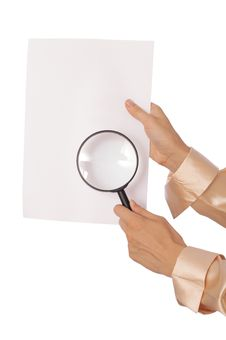 White Blank Paper Royalty Free Stock Photography