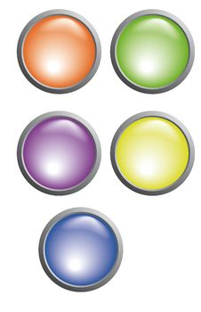 Free Buttons Of Five Colors Stock Photos - 16066123